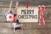Merry christmas inscription — Stock Photo