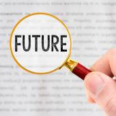 The word FUTURE is magnified. — Stock Photo