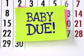 A reminder for when the baby is due — Stock Photo