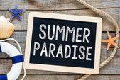 Summer paradise — Stock Photo