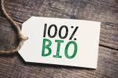 Hundred percent Bio inscription — Stock Photo