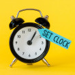 Black alarm clock — Stock Photo #54598935