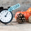 Black alarm clock — Stock Photo #54598961