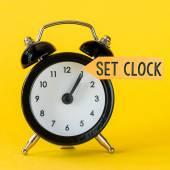 Black alarm clock — Stock Photo