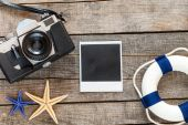 Polaroid empty photo — Stock fotografie