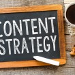 Content strategy  handwritten with white chalk — Stock Photo #54800445