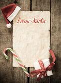 Child letter to Santa Claus — Stock Photo