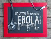 Ebola virus handwriten on blackboard — Stock Photo