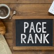 Page Rank handwritten with white chalk — Stock Photo #55351263