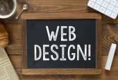Projektowanie stron internetowych odręcznie z kredowych — Zdjęcie stockowe
