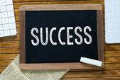 Success Handwritten with white chalk on a blackboard — Stock Photo