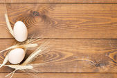 Eggs and wheat — Stock Photo