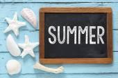 Blackboard with text Summer — Stockfoto