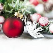 红色圣诞球 — 图库照片