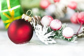 Red Christmas ball — Stock Photo