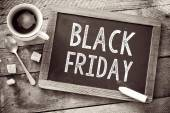 Black Friday sign on Blackboard — Stock Photo