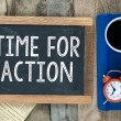 Time for Action sign on blackboard — Stock Photo #57736979