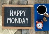 Happy Monday sign on blackboard — Stock Photo