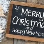 Christmas inscription on blackboard — Stock Photo #57857513