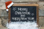Christmas inscription on blackboard — Foto de Stock