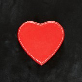 Heart on blackboard — Stock Photo