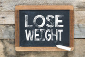 Weight lose sign — Stock Photo