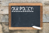 Our policy sign — Stock Photo