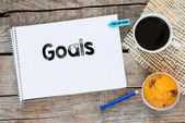 Notebook with goals sign — Fotografia Stock