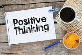 Notebook with  and positive thinking — Stock Photo