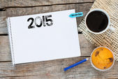 Notebook with 2015  sign — Stock Photo