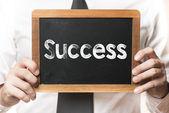 Kaufmann mit Erfolg Wort — Stockfoto