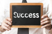 Businessman  with success word — Foto de Stock