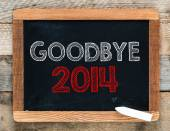 Goodbye 2014 background — Stock Photo