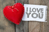 Card with with I love you — Stock Photo