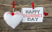 Happy Valentines day and heart — 图库照片