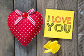 Card with  I love you — Stock Photo