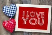 I love you frame — Zdjęcie stockowe