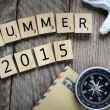 Summer 2015 with  compass — Stock Photo #61326219
