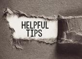Helpful tips concept. — Stock Photo