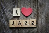 Ich liebe jazz-konzept. — Stockfoto