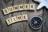Summer time with  compass — Stockfoto