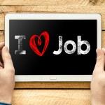 I love job  On PC — Stock Photo #61660979