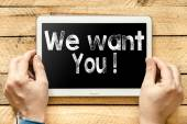 We want you On  PC — Stok fotoğraf
