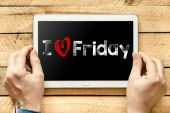 I love friday On PC — Stock Photo