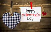 Happy Valentines day and heart — Stock Photo