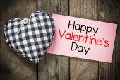 Happy Valentines day and heart — Fotografia Stock