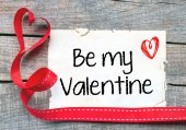 Be my Valentine background — Stock Photo
