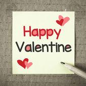 Poznámka: s Happy Valentine — Stock fotografie