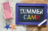 Summer camp text — Stock Photo