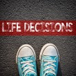 Sneakers and word  life decisions — Stock Photo #63524503